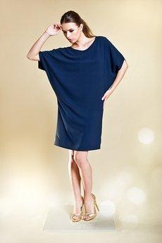 Kasia Miciak design - Nietoperzowa sukienka z kaszmirowej krepy