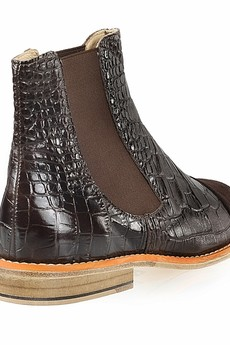 Rita Krzysiek - Brown Leather Chelsea Boots