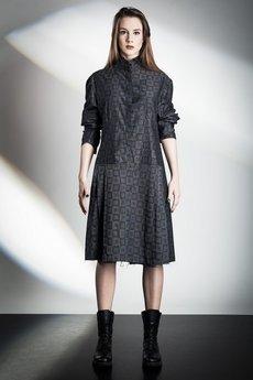 - Gray Shirt Dress