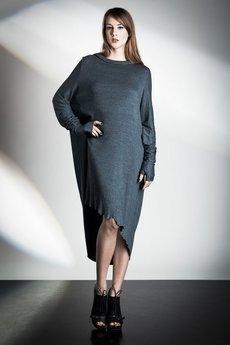 W.I.L.K. - Gray  Knitted Dress