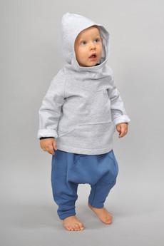 Gapula - Spodnie pumpy z kieszonką kangurką NIEBIESKIE