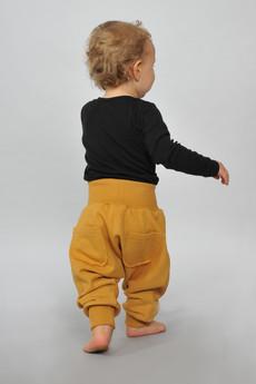 Gapula - Spodnie pumpy ze ściągaczami MUSZTARDOWE