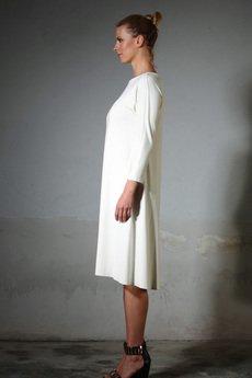 - ANIKA jersey dress ecru