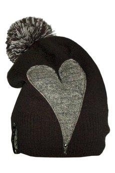 CHAPOOSIE - Czapka CHAPOOSIE Gray Heart & Pompon Beanie