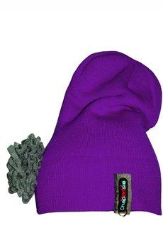 CHAPOOSIE - Czapka CHAPOOSIE Crazy Pompon Purple Beanie