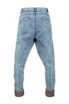 MADOX design - Spodnie madoxy jeansowe z podszewką w paski