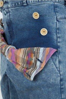 MADOX design - Spodnie madoxy jeansowe z etno paskami