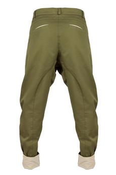 - spodnie madoxy oliwkowe z podszewką w kółka