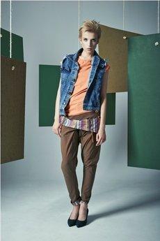 MADOX design - spodnie madoxy ceglaste z podszewką etno.