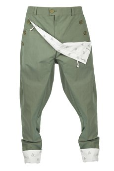 MADOX design - spodnie madoxy oliwkowe z podszewką w konie