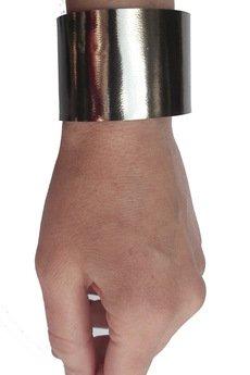 Mikashka - Bransoleta skórzana stalowa