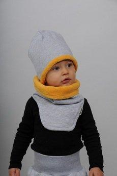 Gapula - ZIMOWY KOMIN szaro-żółty