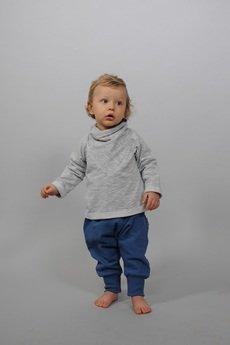 Gapula - Spodnie NIEBIESKIE  ze ściągaczami