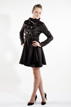 MADE LINE - Kurtko-płaszcz!:) Czarno-złota kurtka, płaszcz.