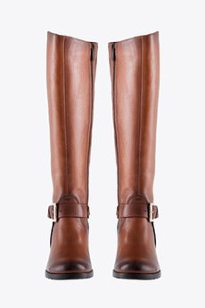 Gloss Shoes - Kozaki z blachą z tyłu - brąz