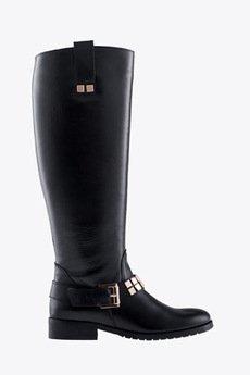 Gloss Shoes - Oficerki z ozdobnym paskiem