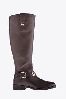 Gloss Shoes - Oficerki z ozdobnym paskiem - brąz czekoladowy