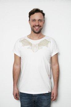 Szara Bluza - koszulka męska z motywem złotych ryb