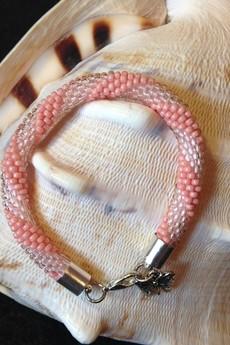Totostyle - Bransoletka szydełkowa z koralików TOHO prezent