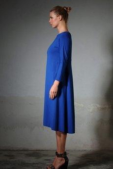- ANIKA jersey kobalt dress