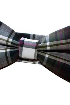 bowstyle - Mucha gotowa zielono-brązowa kratka