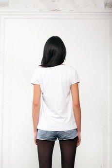 Drunklegends - Biały T-shirt z nadrukiem