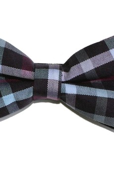 bowstyle - Mucha gotowa fioletowa kratka