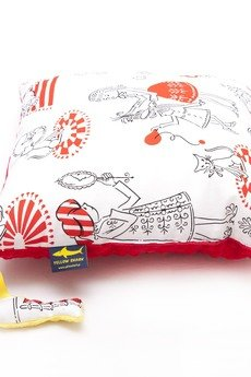 YELLOW SHARK - Komplet scenki kocyk i poduszka