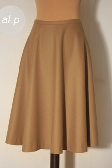 al.p - Rozkloszowana spódnica 100% wełna