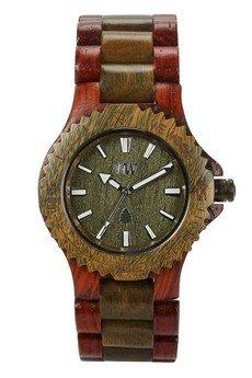 WeWood - oryginalne drewniane zegarki   - drewniany zegarek WeWood DATE BROWN/ARMY