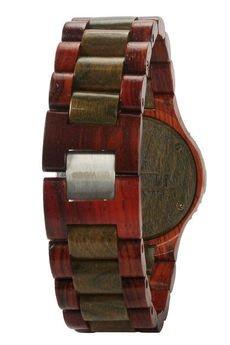 - drewniany zegarek WeWood DATE BROWN/ARMY