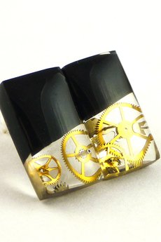 SCRADEUS - Zegarkowe kolczyki sztyfty