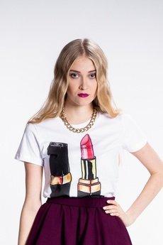 Yeah Bunny - Pink Lipstick Tshirt