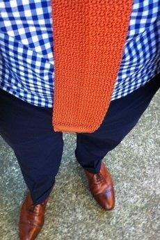 MESS - Krawat pomarańczowy z bawołny Brammel's