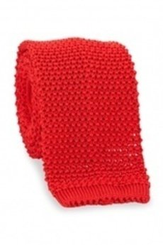MESS - Krawat czerwony z bawołny Brammel's