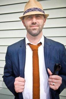 - Krawat brązowy z bawełny Brammel's