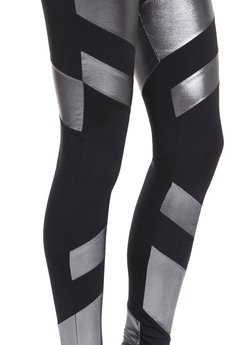 - Silver Letex Leggings