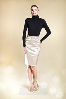 Kasia Miciak design - Ołówkowa spódnica z nabłyszczanej bawełny