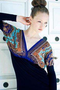 Kasia Miciak design - Kimonowa bluzka w orientalny wzór