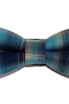 bowstyle - Mucha gotowa wąska niebieska krata
