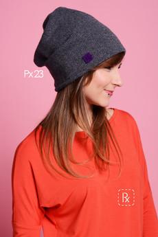Paradox - Px 23. Wełniana czapka z kolorową podszewką