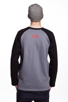 Slogan ubrania ekologiczne, etyczne i wegańskie - YOUNG by SZUM bluza męska grey