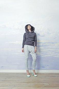 RISK made in warsaw - bluza z kapturem CALL ME PRINCESS grafit