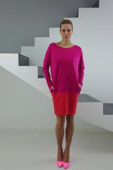 - DRESICA amarant-coral dress