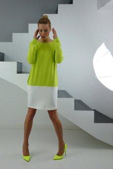 - DRESICA lemon-ecru dress