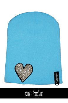 CHAPOOSIE - Czapka CHAPOOSIE Blue & Pearl Heart