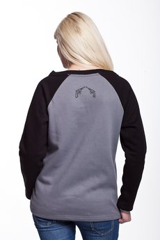 Slogan ubrania ekologiczne, etyczne i wegańskie - DEVI by COXIE bluza damska grey
