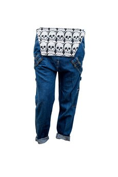 Not Anyone - Oldschool Overalls - Ogrodniczki Skull