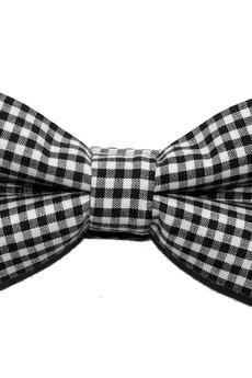 bowstyle - Mucha gotowa czarno-biała kratka