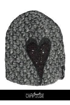 CHAPOOSIE - Czapka CHAPOOSIE BubbleWOOLL & Glitter Heart Beanie